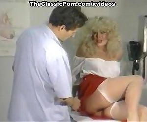 Testing lewd nurse pussy with cock